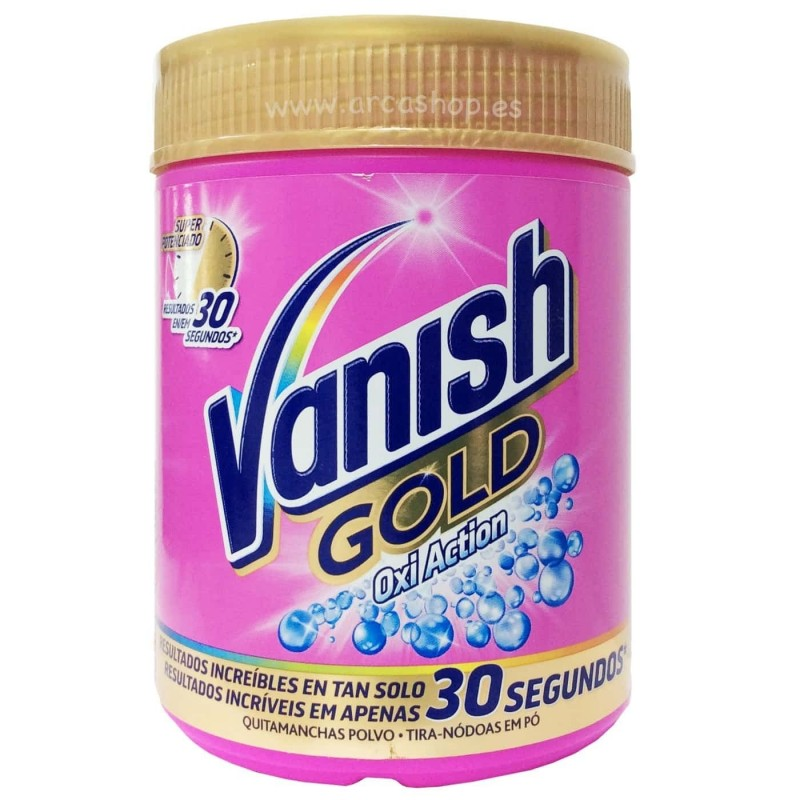 Quitamanchas en Polvo Vanish Gold Oxi Action White y Vanish Oxi Action Crystal White