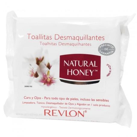 Toallitas Desmaquilladoras Natural Honey. Especial para cara y ojos.