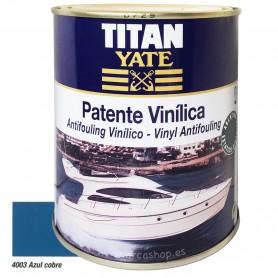 Patente Vinílica Ablativa Titan Yate Embarcaciones  y Náutica Azul