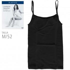Camiseta Negra Talla M - RAPIFE. Camiseta Interior Tirantas mujer.