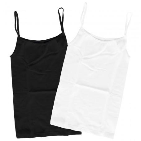 Camiseta Interior Blanca o Negra con Tirantes