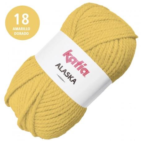 Amarillo Dorado 18 Katia Alaska Lana Punto Madeja 100grs