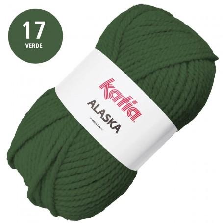 Verde 17 Alaska Lana Punto Madeja 100grs