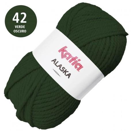 Verde Oscuro 42 Alaska Lana Punto Madeja 100grs
