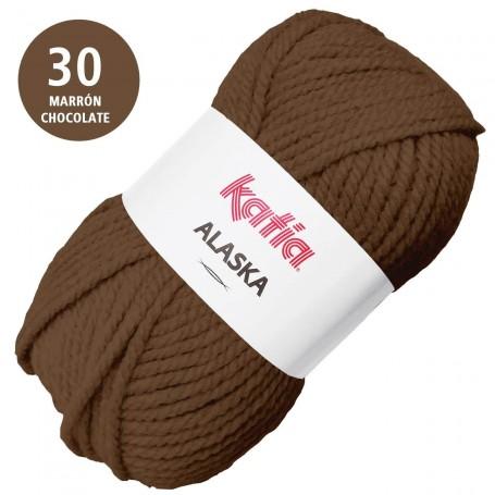 Marrón Chocolate 30 Katia Alaska Lana Punto Madeja 100grs