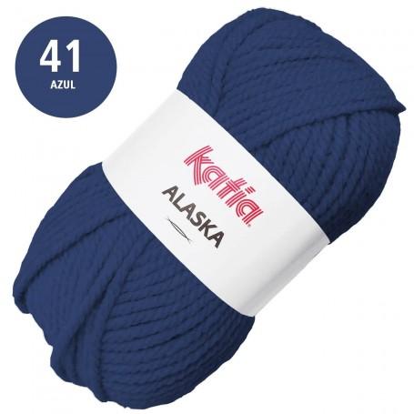 Azul 41  Katia Alaska Lana Punto Madeja 100grs