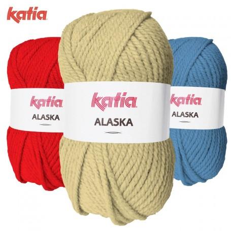 Blanco 01 Katia Alaska Lana Punto Madeja 100grs