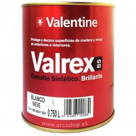 Esmalte 750 ml Blanco Sintético Valrex Valentine BS. Esmalte Brillante