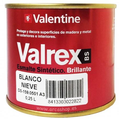 Esmalte 250 ml Blanco Sintético Valrex Valentine BS. Esmalte Brillante