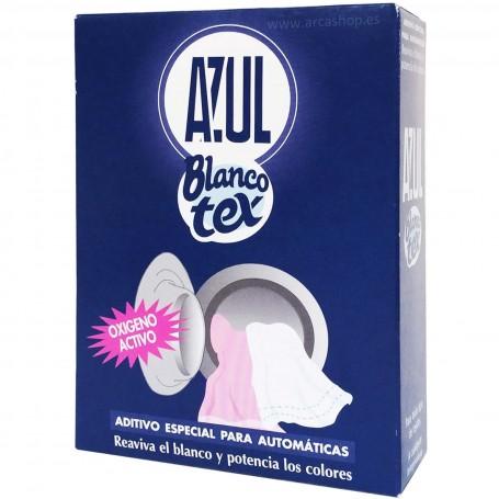 Azul Blancotex. polvo iluminar ropa blanca. Lavadora y a mano.