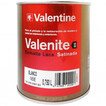 Esmalte Laca Valrex 750 ml Valentine BS Teflon   Blanca Satinada