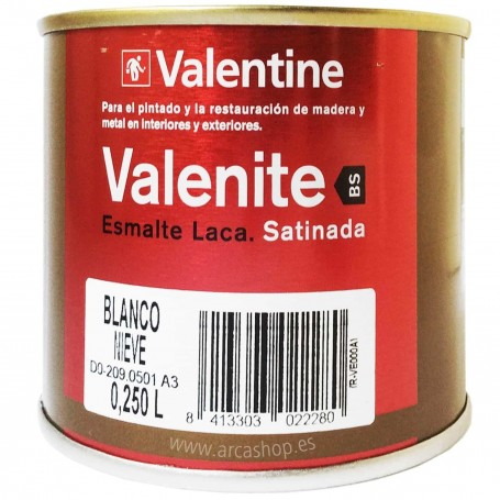 Esmalte Laca Valrex 250 ml Valentine BS Teflon   Blanca Satinada