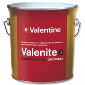 Esmalte Blanco Laca Satinada Valrex 4 litros Valentine BS Teflon   Blanca Satinada
