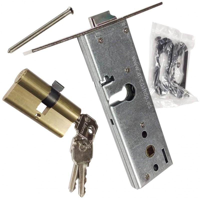 Cerraduras Embutir para perfiles zócalo en Puertas Metálicas LINCE 5578