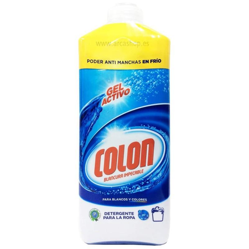 Detergente Líquido Lavadora Gel Activo COLON 25 lavados