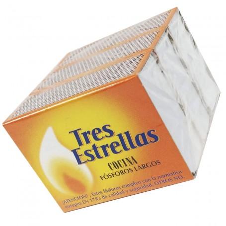 Cajitas Cerillas Cocina largas Fósforos Las Tres Estrellas