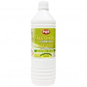Alcohol de limpieza PQS limón: ventanas, sanitarios, espejos, azulejos, cristal, formica y anticongelante limpiaparabrisas.