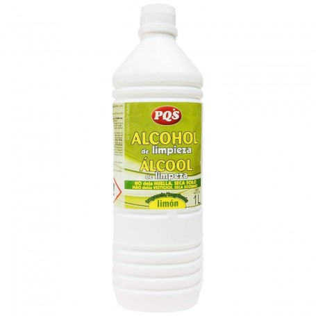 Alcohol de limpieza PQS aroma a limón. Limpiador multiusos.