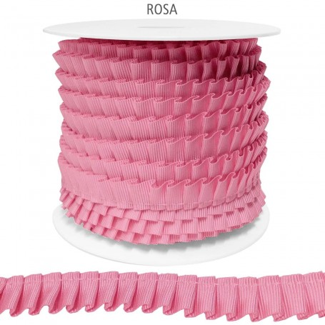 ROSA Cinta de Falla Plisada 14 mm Poliester.