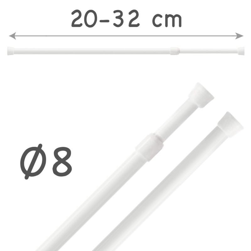 Portavisillos Extensible Autofijable Ø8 mm Riel Chic