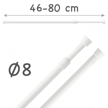 Barra Portavisillos 46-80 cm Extensible Autofijable Ø8 mm Riel Chic