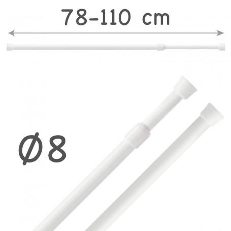 Barra Portavisillos 78-110 cm Extensible Autofijable Ø8 mm Riel Chic