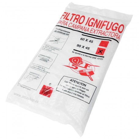 Filtro Ignifudo Campana Extractora Cocina 90x 45 cm