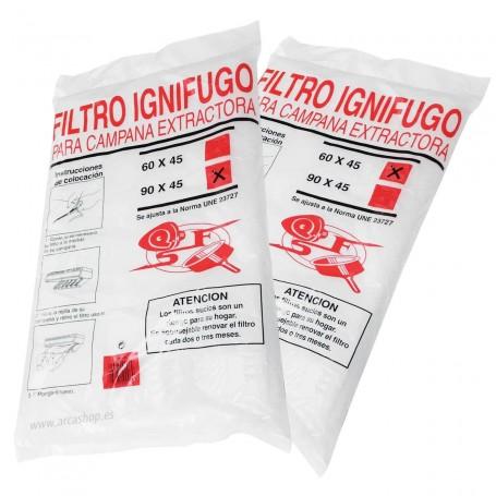 Filtro Ignifudo Campana Extractora Cocina 60x45 cm y 90x 45 cm