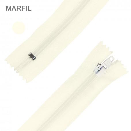Cremallera Flamenca MARFIL 50 cm, 60 cm, 70 cm y 80 cm. Dentado Nylon 5 mm - Ancho Cremallera 32 mm