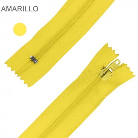 Cremallera Flamenca AMARILLO 50 cm, 60 cm, 70 cm y 80 cm. Dentado Nylon 5 mm - Ancho Cremallera 32 mm