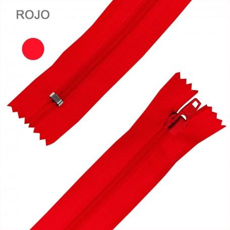 Cremallera Flamenca ROJO BERMNELLON 50 cm, 60 cm, 70 cm y 80 cm. Dentado Nylon 5 mm - Ancho Cremallera 32 mm