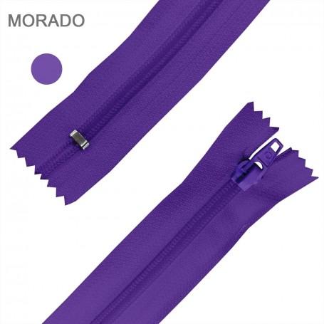 Cremallera Flamenca MORADO 50 cm, 60 cm, 70 cm y 80 cm. Dentado Nylon 5 mm - Ancho Cremallera 32 mm