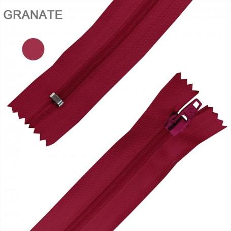 Cremallera Flamenca GRANATE 50 cm, 60 cm, 70 cm y 80 cm. Dentado Nylon 5 mm - Ancho Cremallera 32 mm