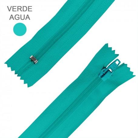 Cremallera Flamenca VERDE AGUA 50 cm, 60 cm, 70 cm y 80 cm. Dentado Nylon 5 mm - Ancho Cremallera 32 mm