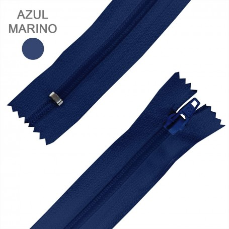 Cremallera Flamenca AZUL MARINO 50 cm, 60 cm, 70 cm y 80 cm. Dentado Nylon 5 mm - Ancho Cremallera 32 mm