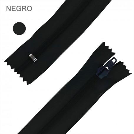 Cremallera Flamenca NEGRO 50 cm, 60 cm, 70 cm y 80 cm. Dentado Nylon 5 mm - Ancho Cremallera 32 mm