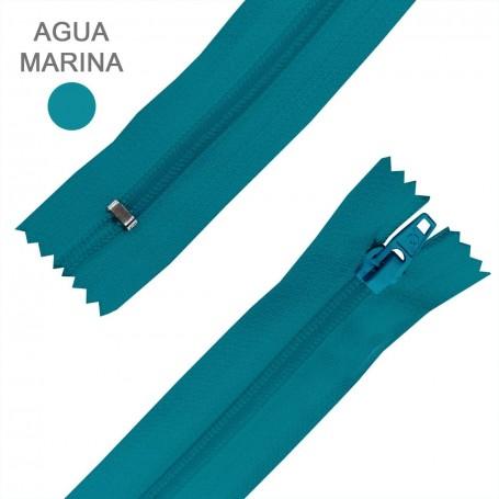 Cremallera Flamenca AGUA MARINA 50 cm, 60 cm, 70 cm y 80 cm. Dentado Nylon 5 mm - Ancho Cremallera 32 mm