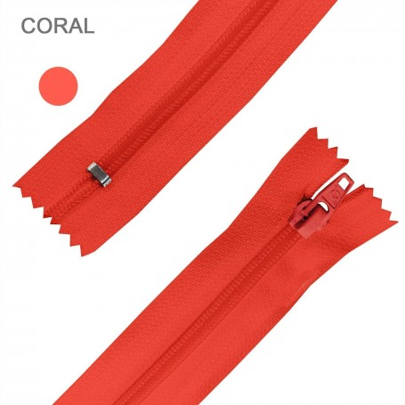 Cremallera Flamenca CORAL 50 cm, 60 cm, 70 cm y 80 cm. Dentado Nylon 5 mm - Ancho Cremallera 32 mm