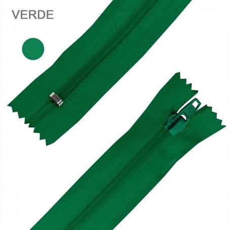 Cremallera Flamenca VERDE 50 cm, 60 cm, 70 cm y 80 cm. Dentado Nylon 5 mm - Ancho Cremallera 32 mm