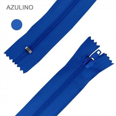 Cremallera Flamenca AZULINO 50 cm, 60 cm, 70 cm y 80 cm. Dentado Nylon 5 mm - Ancho Cremallera 32 mm
