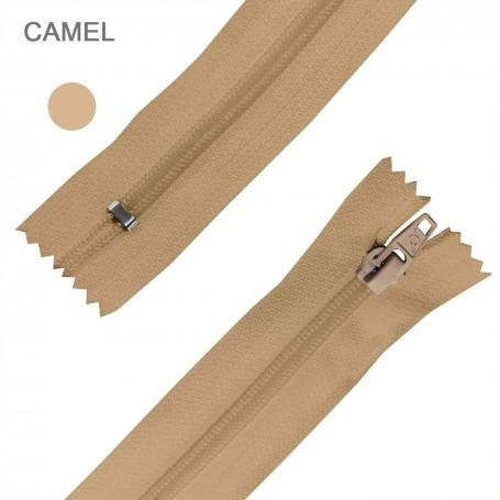 Cremallera Flamenca CAMEL 50 cm, 60 cm, 70 cm y 80 cm. Dentado Nylon 5 mm - Ancho Cremallera 32 mm