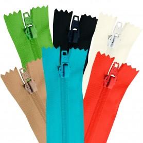 Cremallera Flamenca BLANCO 50 cm, 60 cm, 70 cm y 80 cm. Dentado Nylon 5 mm - Ancho Cremallera 32 mm