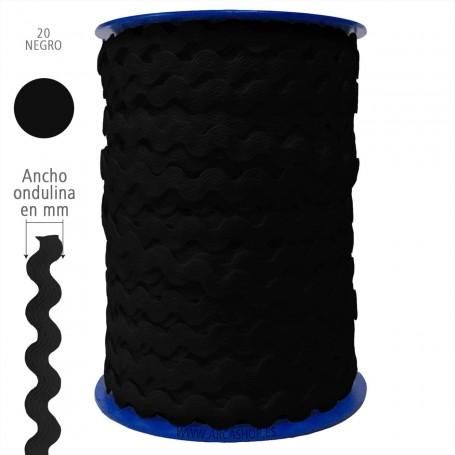 Negro nº20 Ondulina Piquillo Trajes de Flamenca y Complementos Infantiles.