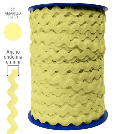 Amarillo Claro nº27 Ondulina Piquillo Trajes de Flamenca y Complementos Infantiles. 8 mm, 13 mm y 20 mm.