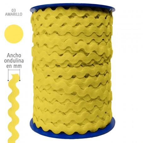 Amarillo  nº03 Ondulina Piquillo Trajes de Flamenca y Complementos Infantiles. 8 mm, 13 mm y 20 mm.