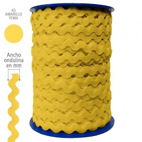 Color Amarillo Yema nº43 Ondulina Piquillo Trajes de Flamenca y Complementos Infantiles. 8 mm, 13 mm y 20 mm.
