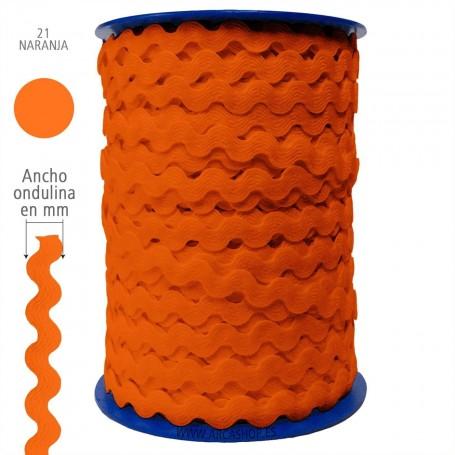 Ondulina Piquillo, Color: Naranja nº21. Piquillo Trajes de Flamenca.