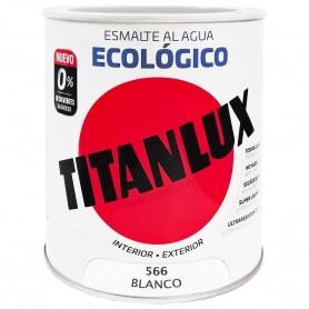 BLANCO 566 Esmalte TITANLUX Ecológico al Agua. Brillante, Satinado y Mate.