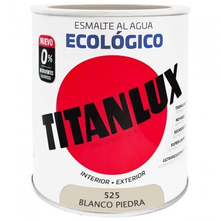 BLANCO PIEDRA 525 Esmalte TITANLUX Ecológico al Agua. Brillante, Satinado y Mate.
