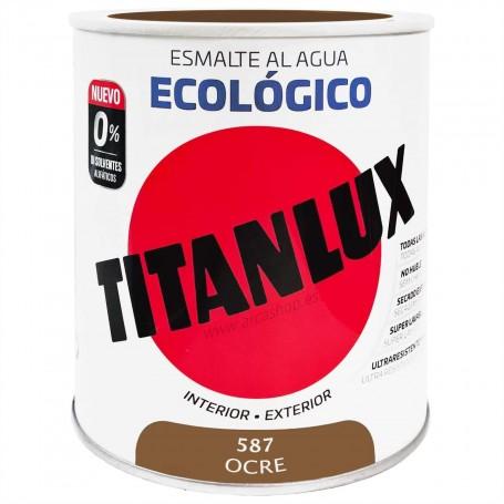 OCRE 587 Esmalte TITANLUX Ecológico al Agua. Brillante y Satinado.